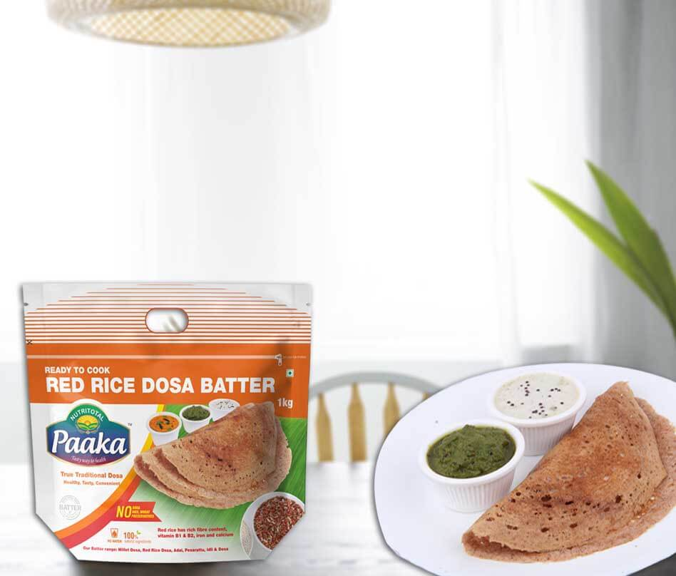 Paaka Red Rice Dosa Batter by Nutritotal